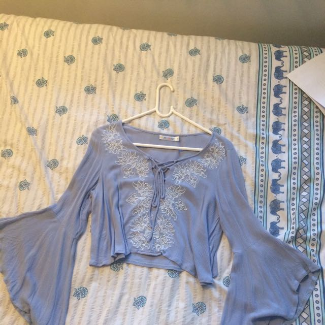 Bell sleeved bohemian crop from Peppermayo