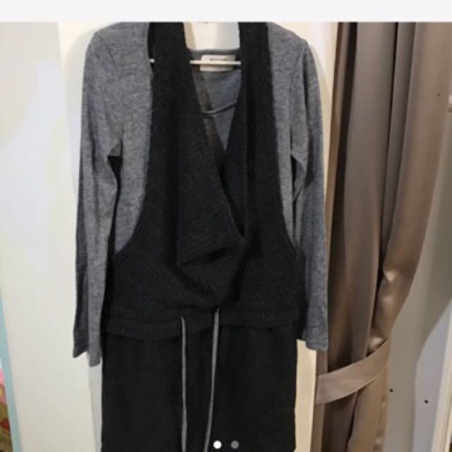 BEYOND長版針織繞頸毛衣