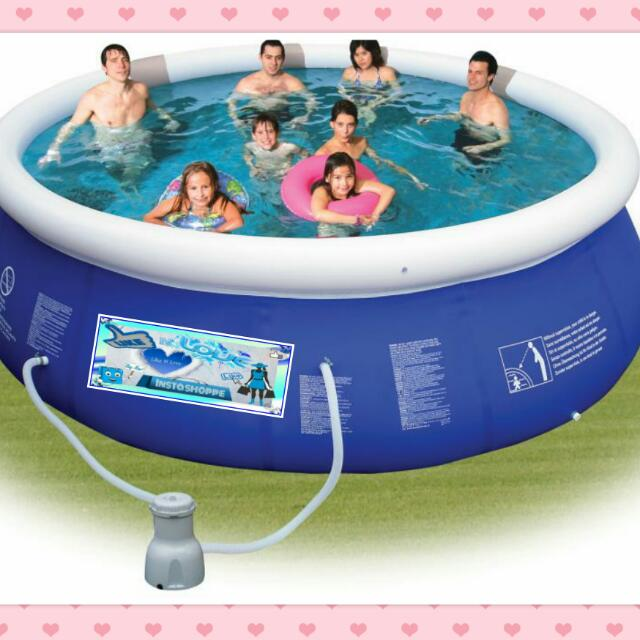BIG Inflatable Portable Swimming Frame Pool Adults Kids Home