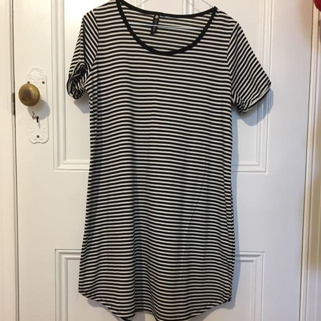 Black & White Strip Dress