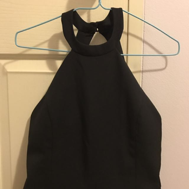 Black Backless Jumpsuit Size 8/10