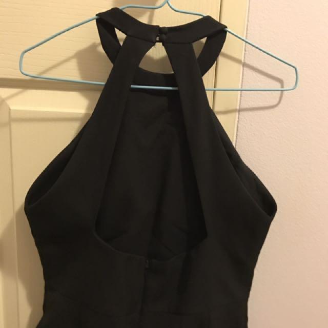 Black Backless Jumpsuit Size 8/10