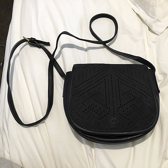 Black Sportsgirl Shoulder Bag Boho Look