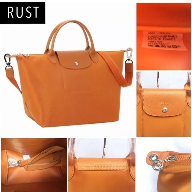 15dda03d1793 Brand New And Authentic Longchamp Le Pliage Neo Rust Color Small ...