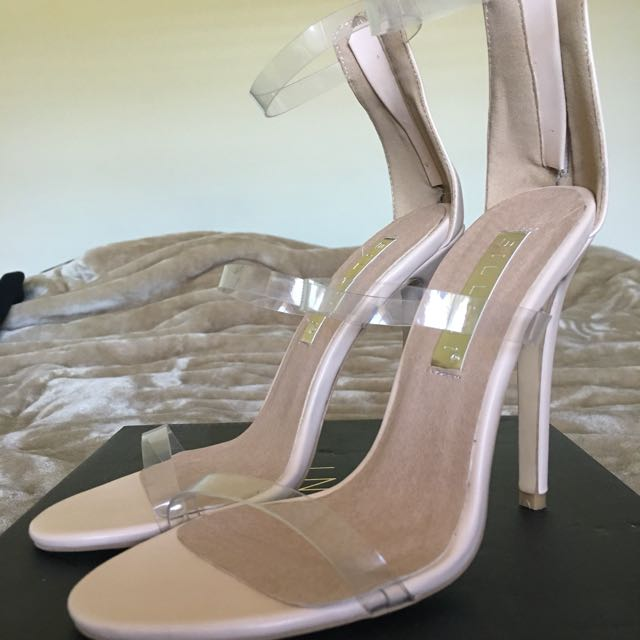 Brand New Bellini Nadia Heels With Clear Straps Size 6