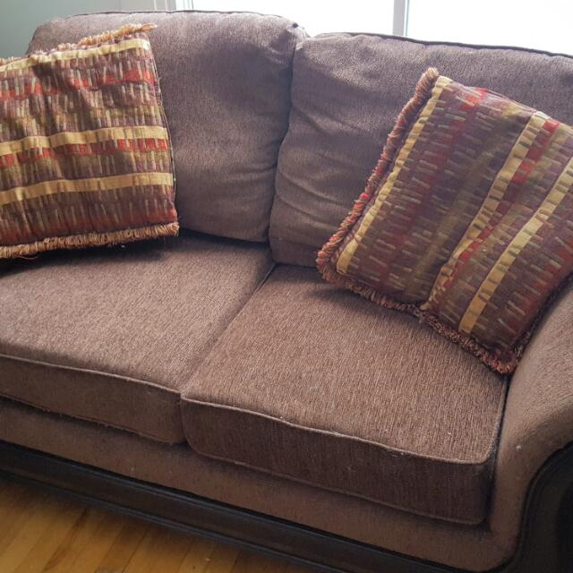 Brown Couch With Matching Chair
