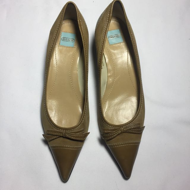 COACH Kitten Heels Suede and Leather Shoes
