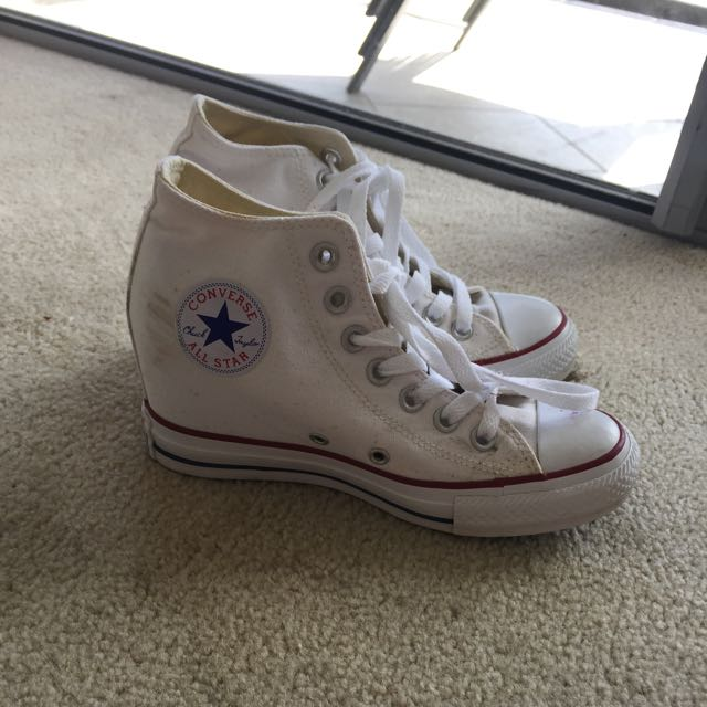 Converse Wedge White Sneakers