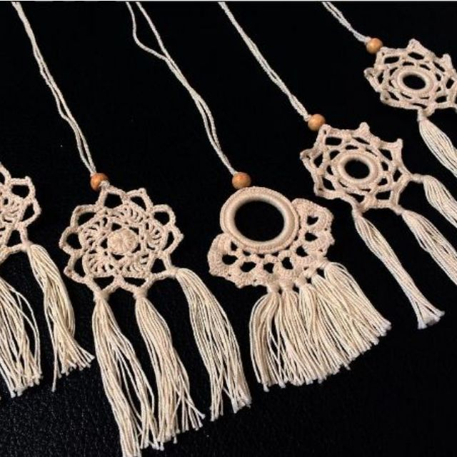 Crochet Tassel Necklaces