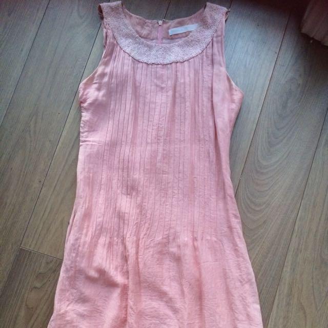 Dusty Pink Song & Kelly Sz 6 Silk Dress