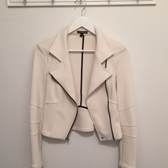 Express Off White Jacket