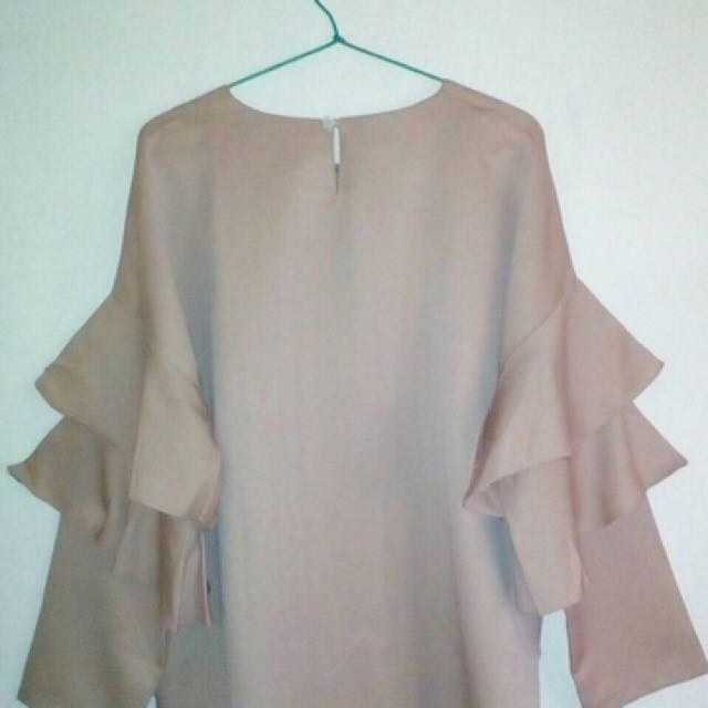Flare Nude Blouse