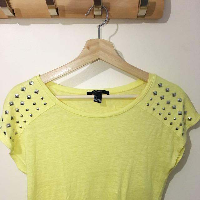Forever 21 Studded Knit Top