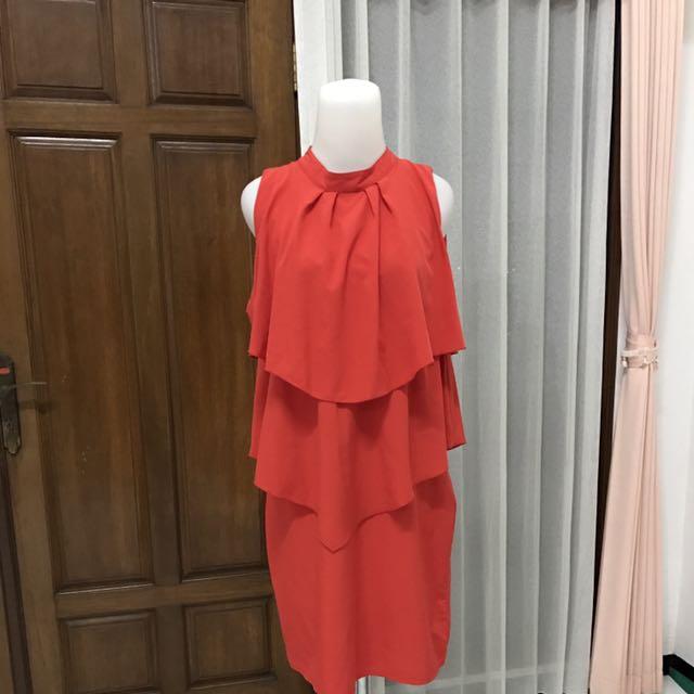 Gaudi Red Layered dress