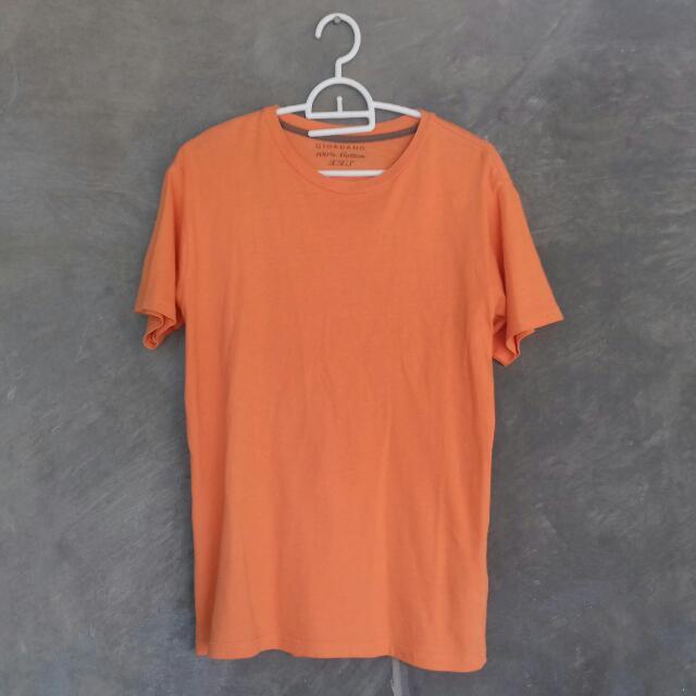 Giordano Orange Tshirt