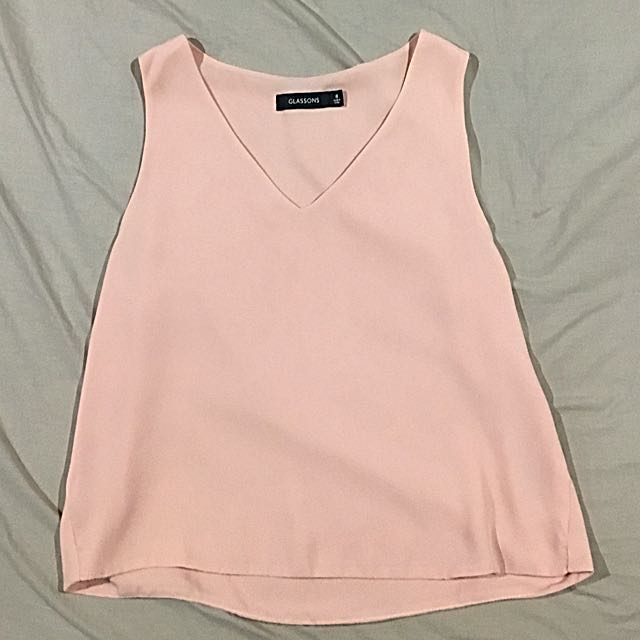 Glassons Loose Pink Crop Top Size 8