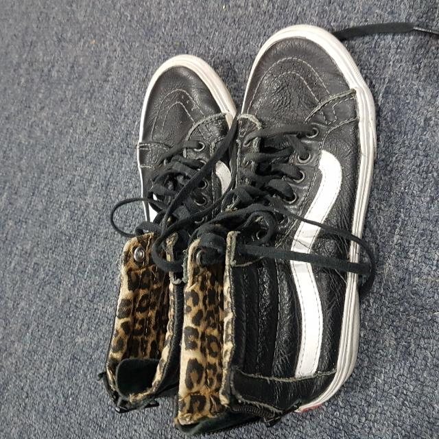 High Top Leather Vans