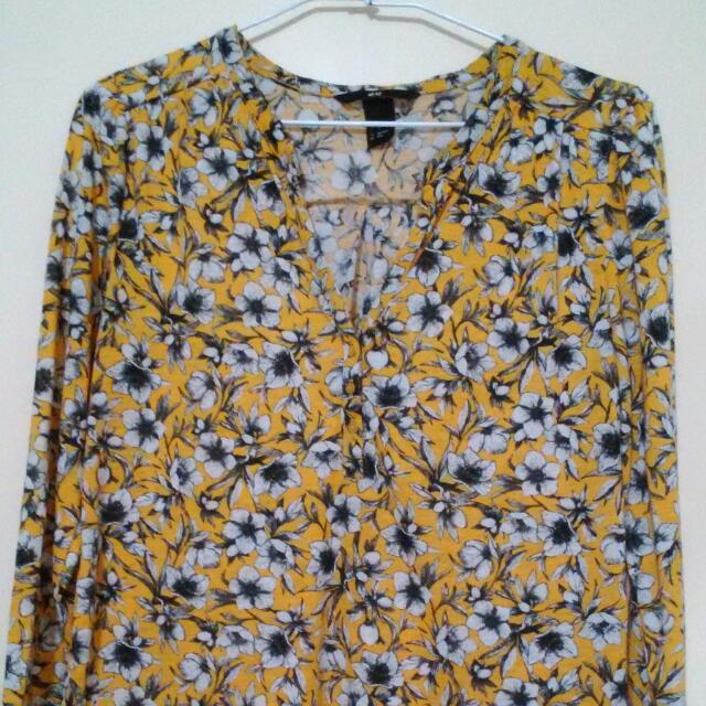 H&M 德國帶回花卉襯衫