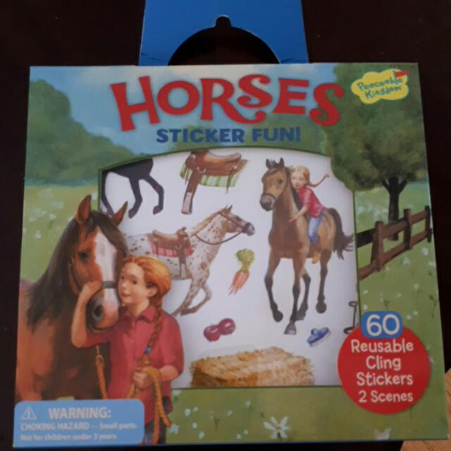 Horses Sticker Fun By Peaceable Kingdom _ Age 3+ Only