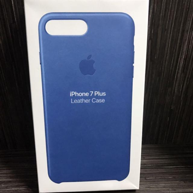 cheaper da582 a8ad1 iPhone 7 Plus Leather Cover Sea Blue