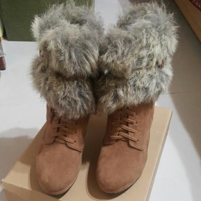 全新KAZANA高跟短靴(23.5)#交換最划算