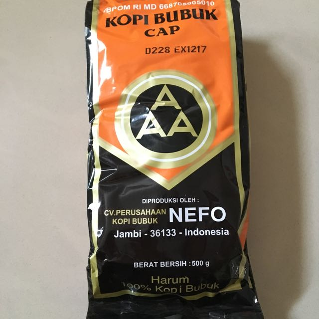 Kopi Bubuk Cap AAA made in Jambi, Indonesia, Food & Drinks, Non-Alcoholic Beverages on Carousell
