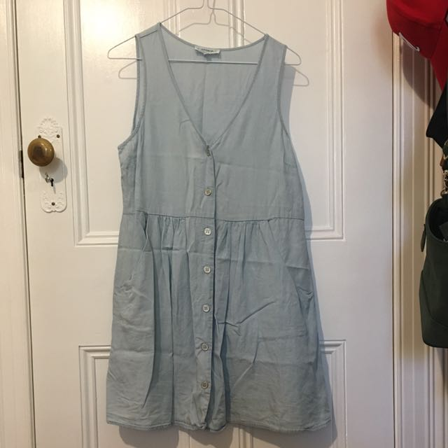 Light Blue Denim Look Dress