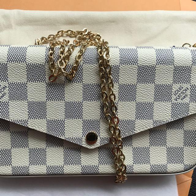 Louis Vuitton Pochette Felicie Wallet On Chain 028ead0801d56