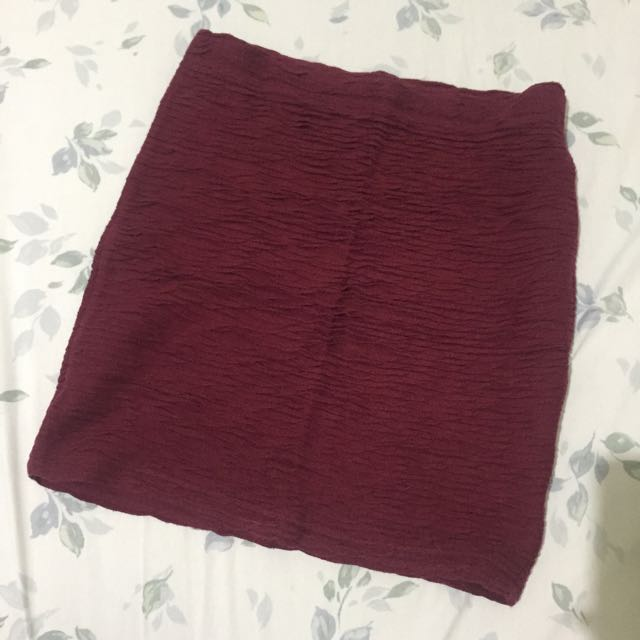 Maroon Skirt F21