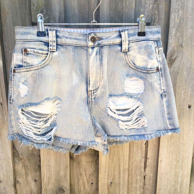 Milk & Honey Distressed Shorts