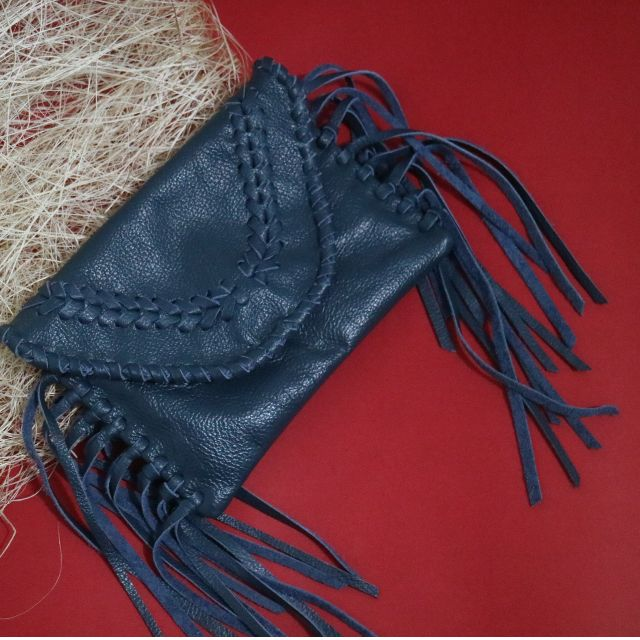 Mini Boho Clutch Leather