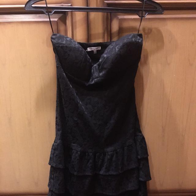 Mini Bustier Jacquard Dress