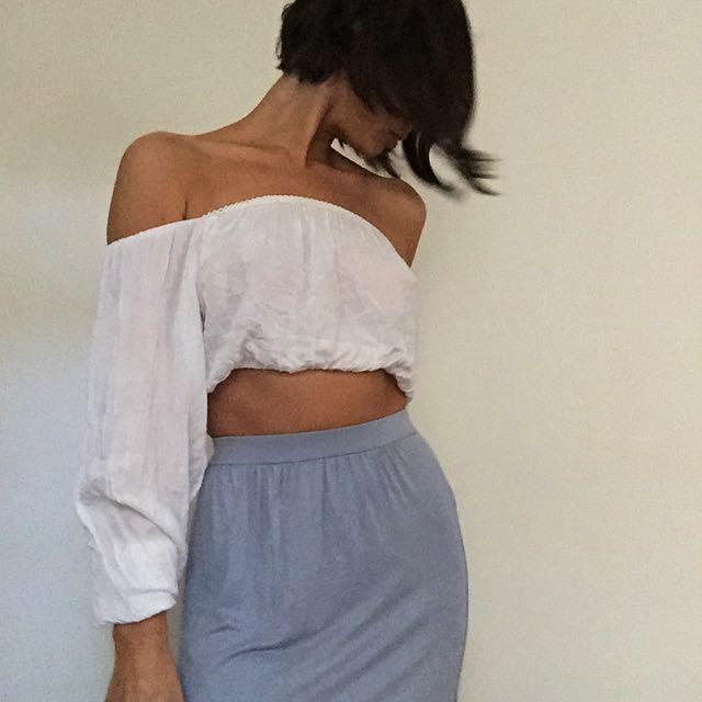 Miss Selfridge Blueish Grey Skirt