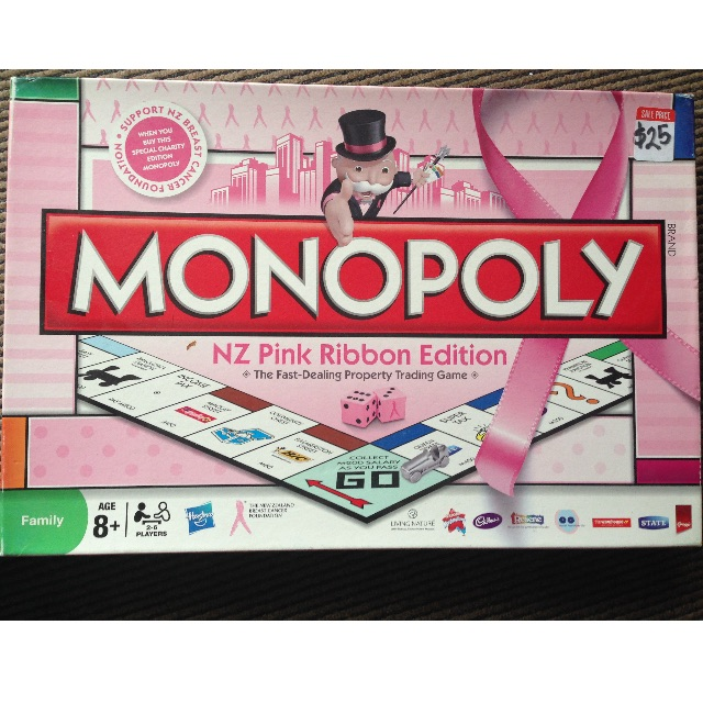 Monopoly NZ Pink Ribbon Edition