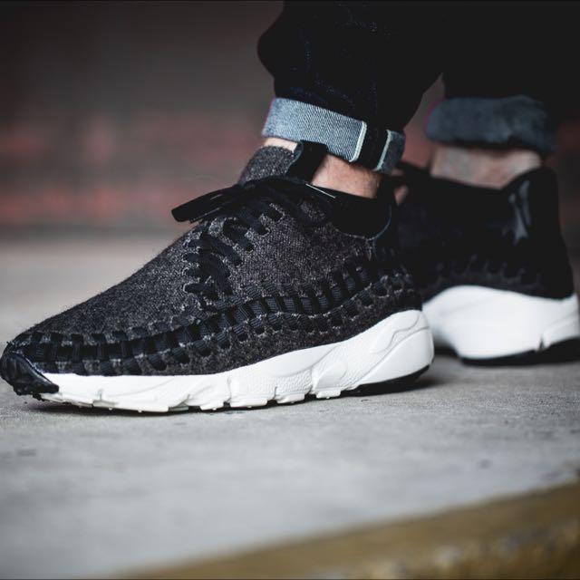 Nike Air Footscape Woven Chukka 羊毛款 編織鞋 黑灰 26cm