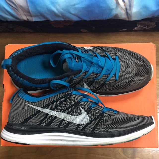 Nike FLYKNIT ONE+ 編織 飛織 灰藍 系列 慢跑鞋 余文樂著用