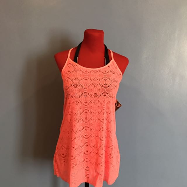 f0a2fa329223b OP Sexy Swimsuit Cover Up In Neon-ish Orange