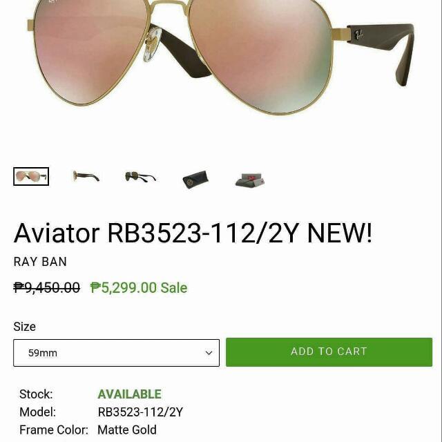 Original rayban shades