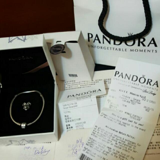 Pandora 18cm蛇鍊+米妮 手環
