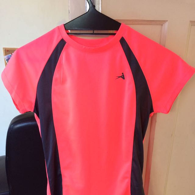 Pink And Black Exercise Top