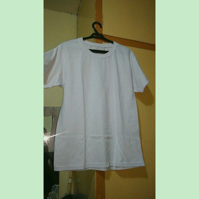 Plain white crewneck shirt