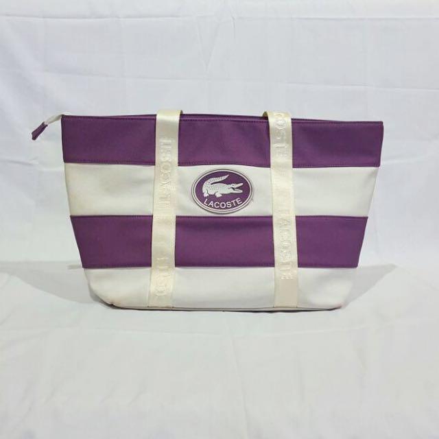 Purple Lacoste Bag