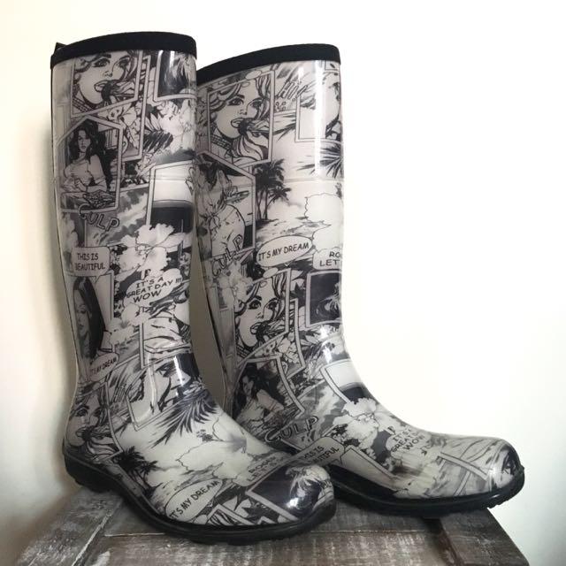 Retro Comic Rain Boots