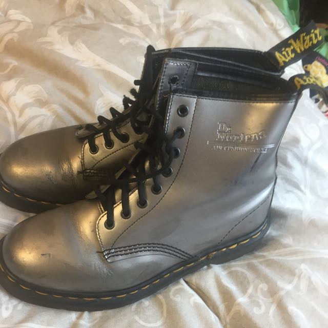 Silver Doc Martens Size 41