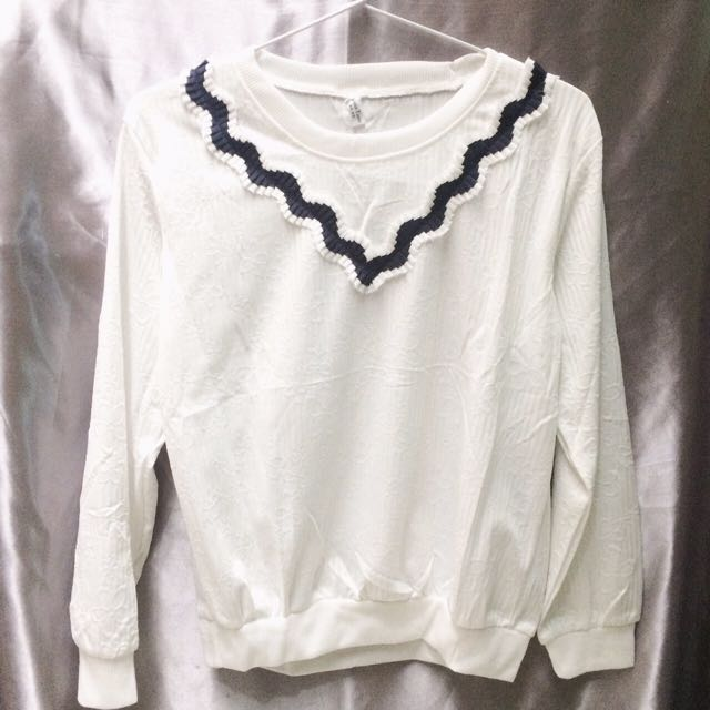 Simple White Sweater