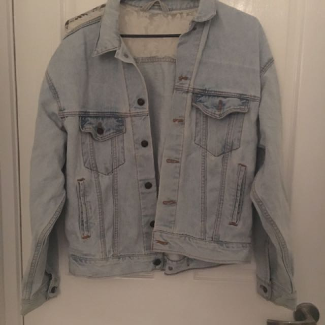 Size L - Urban Outfitters Denim Jacket With Lace Feature