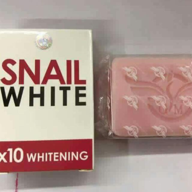 Snail White Soap 10x Whitening Power. Thailand's Number 1 Soap