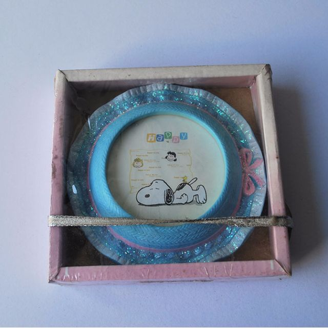 Snoopy picture frame (round)