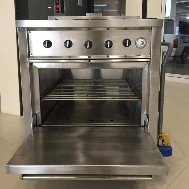 stainless heavy duty gas stove oven