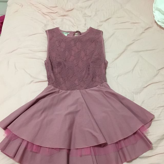 Stunning Pink Openback Skater Dress